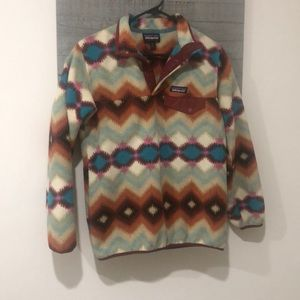 women's printed patagonia fleece jacket